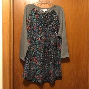 LuLaRoe Randy Sz XL Abstract Pattern